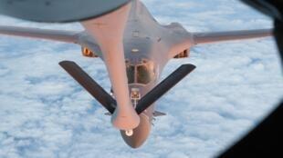 美空軍B-1B超音速戰略轟炸機資料圖片