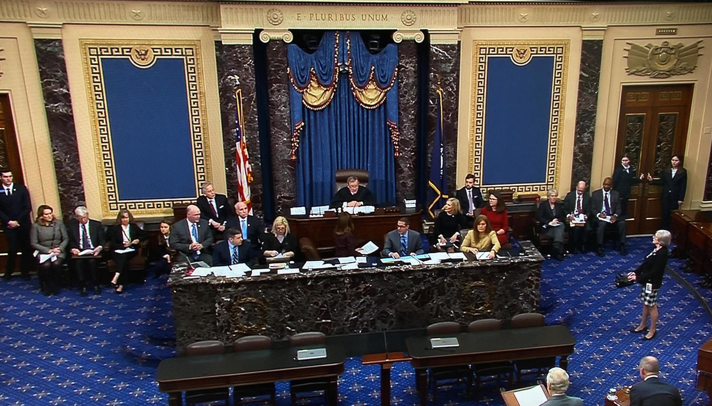Chief Justice Roberts presides over impeachment trial of President Donald Trump at the U.S. Capitol in Washington U.S., January 16, 2020