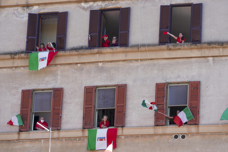 PHOTO Italie - Jour de la Libération sous confinement