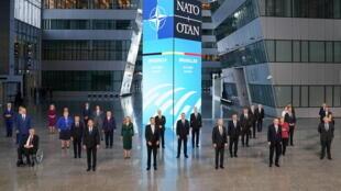 北約峰會與會領導人資料圖片