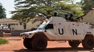 United Nations peacekeepers patrol in the Central African Republic