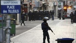 French security forces carried out raids in the northern Parisian suburb of Saint Denis.