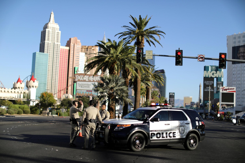 Một xe tuần tra cảnh sát trên Las Vegas Strip, ngày 03/10/2017.