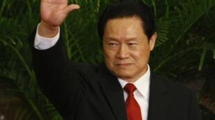 Zhou Yongkang lors d'une rencontre avec les médias à Pékin, le 22 octobre 2007.