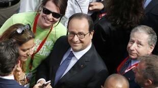 French President François Hollande in Le Mans for the motor race on Saturday