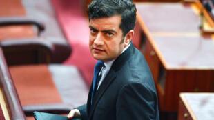 Thượng nghị sĩ đối lập Sam Dastyari thuộc Công đảng Úc trong Thượng Viện tại Canberra ngày 05/12/2017