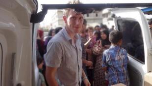 Peter Kassig, à la frontière syrienne, entre 2012 et 2013.