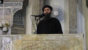 (Photo d'archives) Le dernier enregistrement d'Abou Bakr al-Baghdadi avait été diffusé par l'organisation EI en septembre 2017.