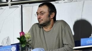 This file photo taken on January 17, 2012 shows Russian billionaire Suleiman Kerimov watching a football match Russia's Anzhi Makhachkala against Iraq at Al Nasr Stadium in Dubai.