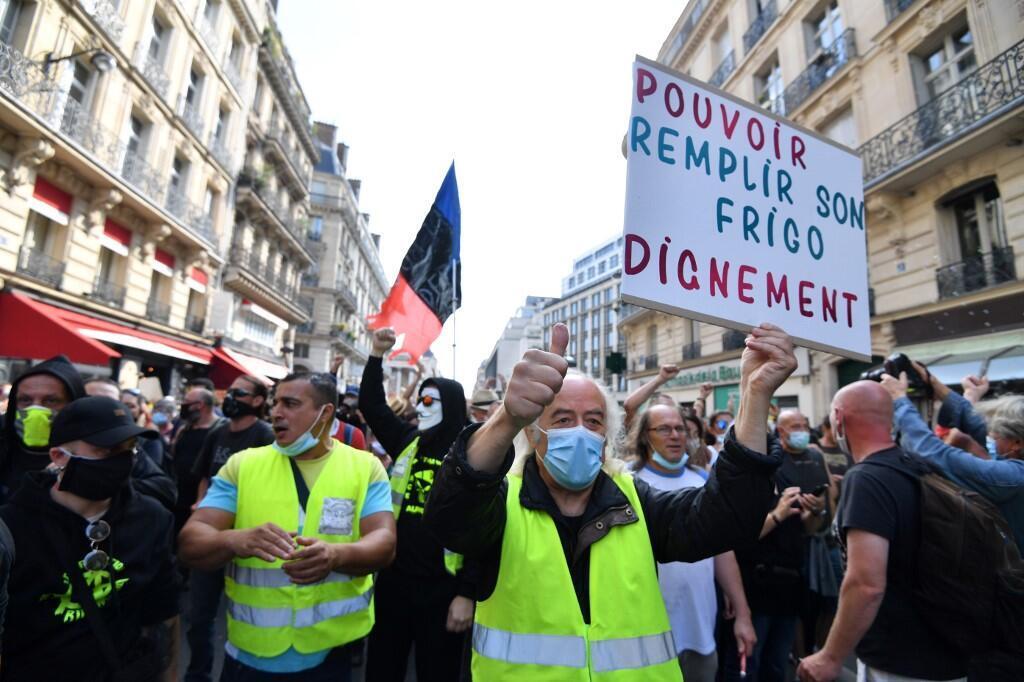 Manifestation des Gilets jaunes à Paris, le 12 septembre 2020.