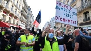 Yellow Vest protesters gather in Paris, 12 September 2020
