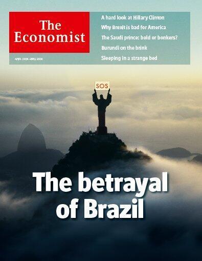 Capa da Economist desta semana é, mais uma vez, sobre o Brasil.