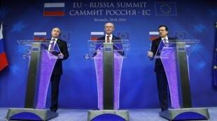 Пресс-конференция по итогам саммита Россия-ЕС в Брюсселе, 28 января 2014.