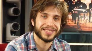 Fernando Palomeque en los estudios de RFI