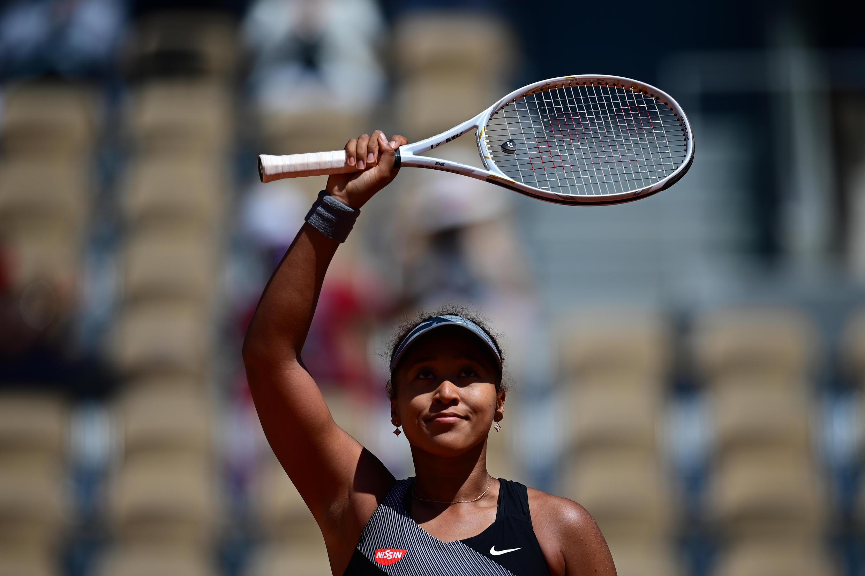 La Japonaise Naomi Osaka, après sa victoire au 1er tour contre la Roumaine Patricia Maria Tig, lors des Internationaux de France, le 30 mai 2021 au stade Roland Garros à Paris