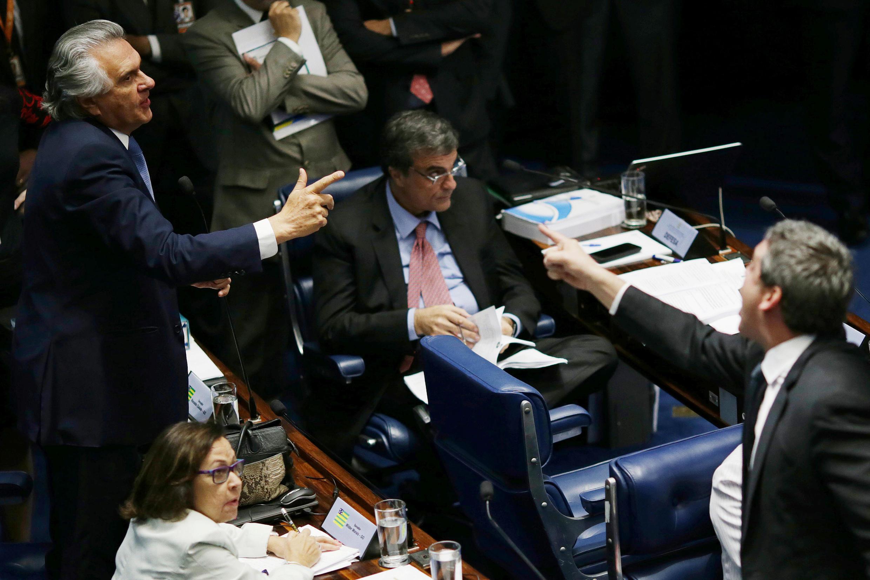Discussion au sénat brésilien, le 25 août 2016, sur le sort de Dilma Rousseff.