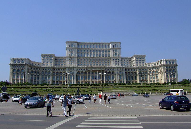Tòa nhà Quốc hội ở Bucarest.