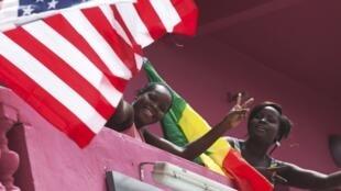 'Yan Senegal na tarben Obama