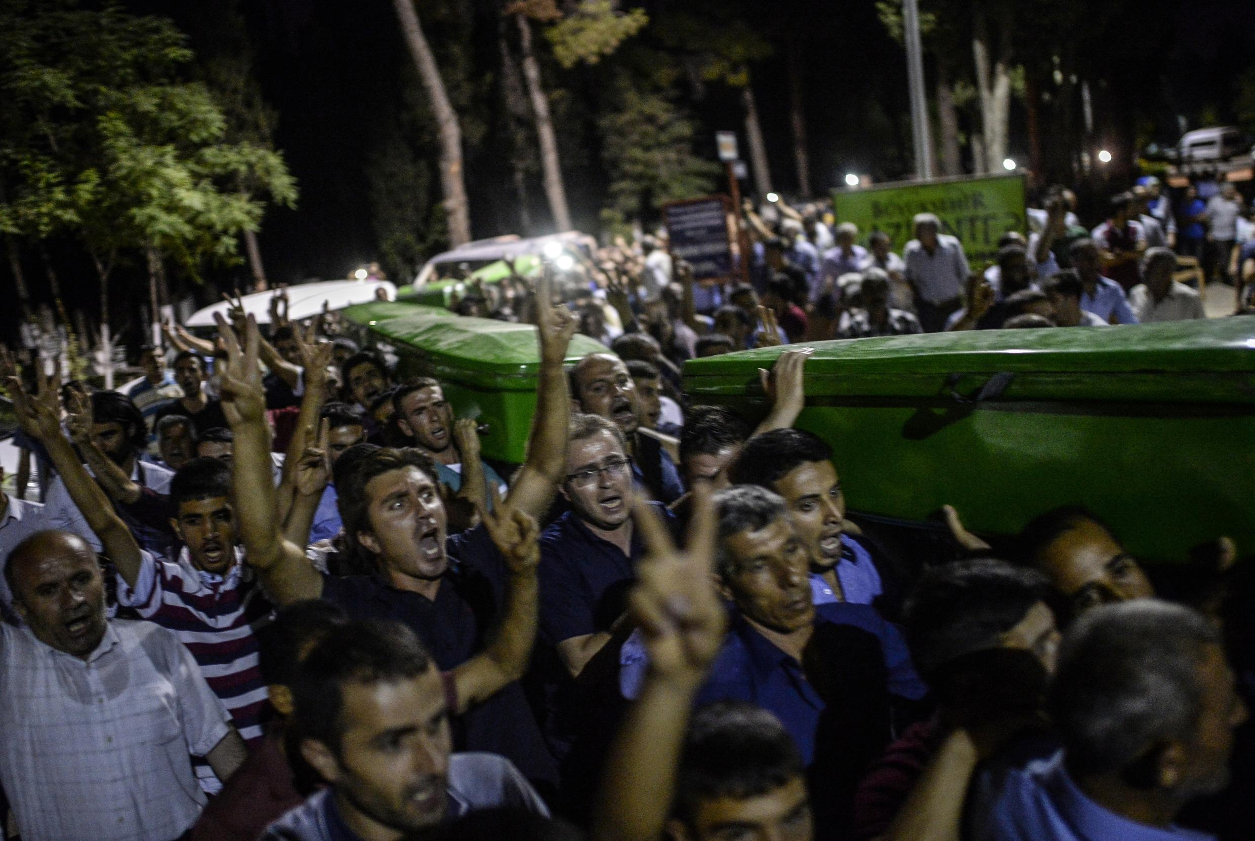 At least 32 people were killed in a suicide bomb attack in Suruc, Turkey
