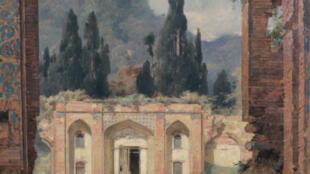 تابلویی از ویرانههای قصر اشرف