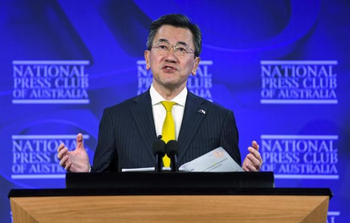 日本驻澳大利亚大使山上信吾资料图片