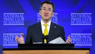 日本駐澳大利亞大使山上信吾資料圖片