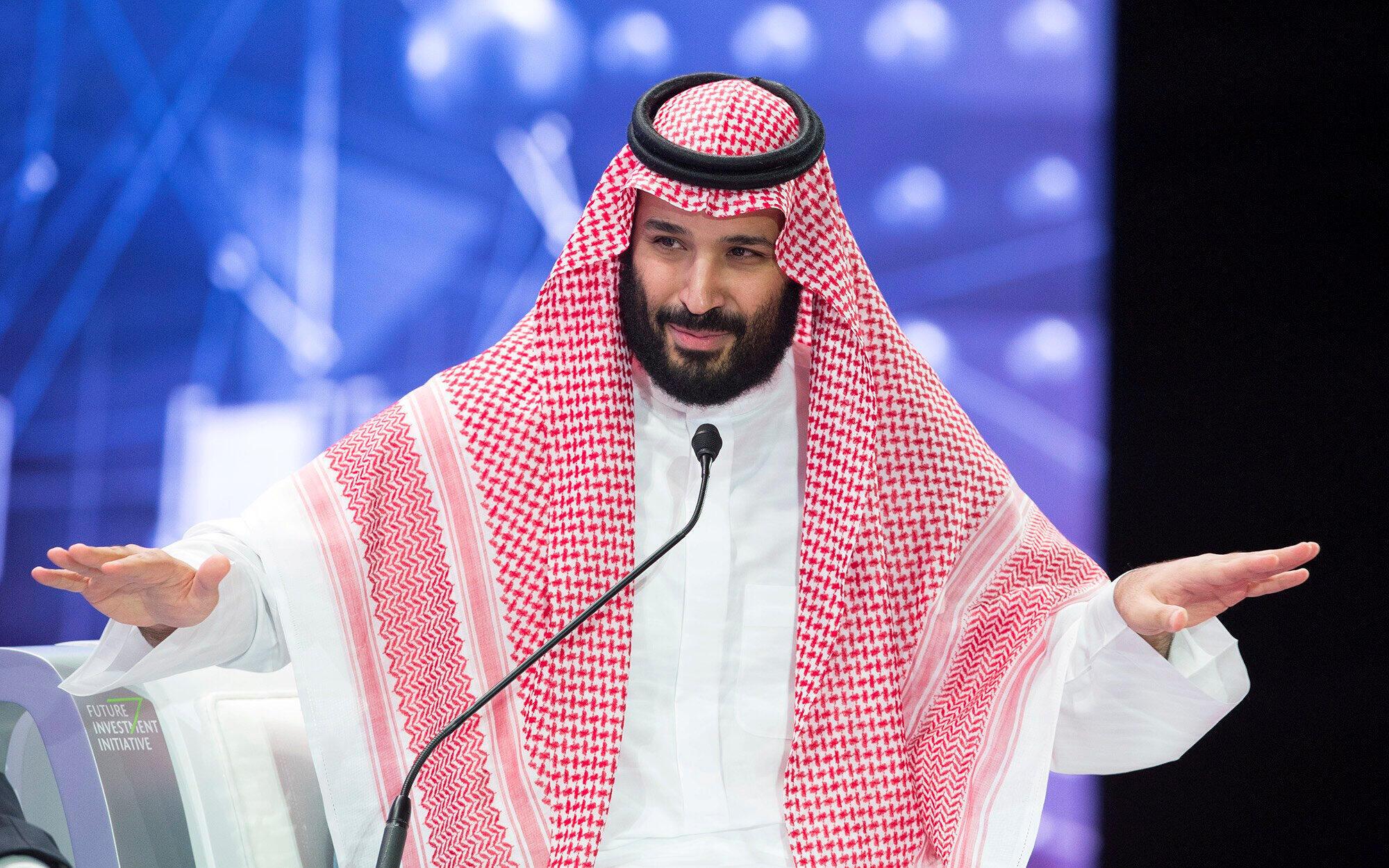 محمدبن سلمان ولیعهد عربستان .