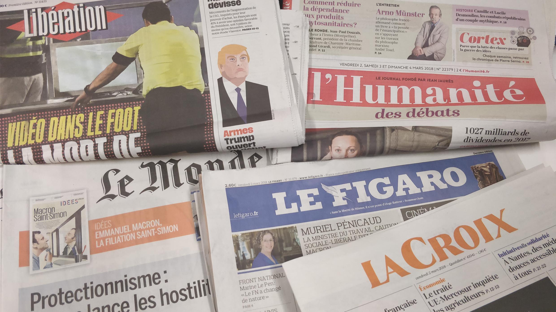 Primeiras páginas dos jornais franceses de 02 de março de 2018