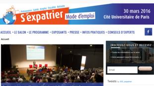 Site du salon «S'expatrier, mode d'emploi».