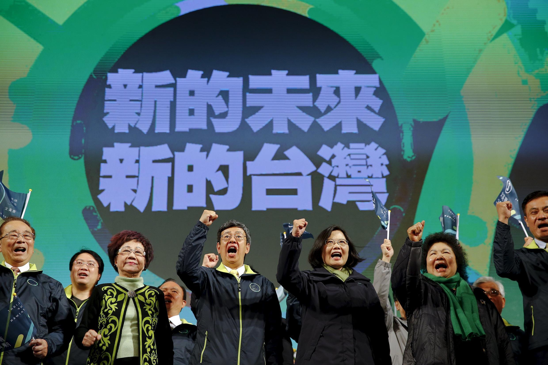 台湾大选推举蔡英文为新一任总统