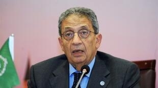 The head of the Arab League Amr Moussa