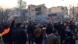 Người dân biểu tình ở thủ đô Teheran, Iran, ngày 30/12/2017