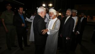 محمدجواد ظریف، وزیر خارجه جمهوری اسلامی ایران در سفری سریع به مسقط