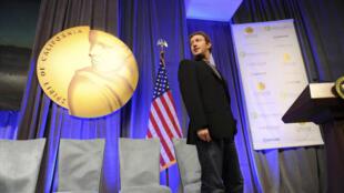 Mark Zuckerberg lors de la cérémonie annuelle du California Hall of Fame à Sacramento, le 15 décembre 2010. Il est la plus jeune personnalité à faire son entrée dans ce musée.