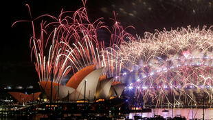 fogo-de-artifício em Sydney, na Austrália.