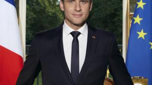 Foto oficial del presidente de Francia, Emmanuel Macron.