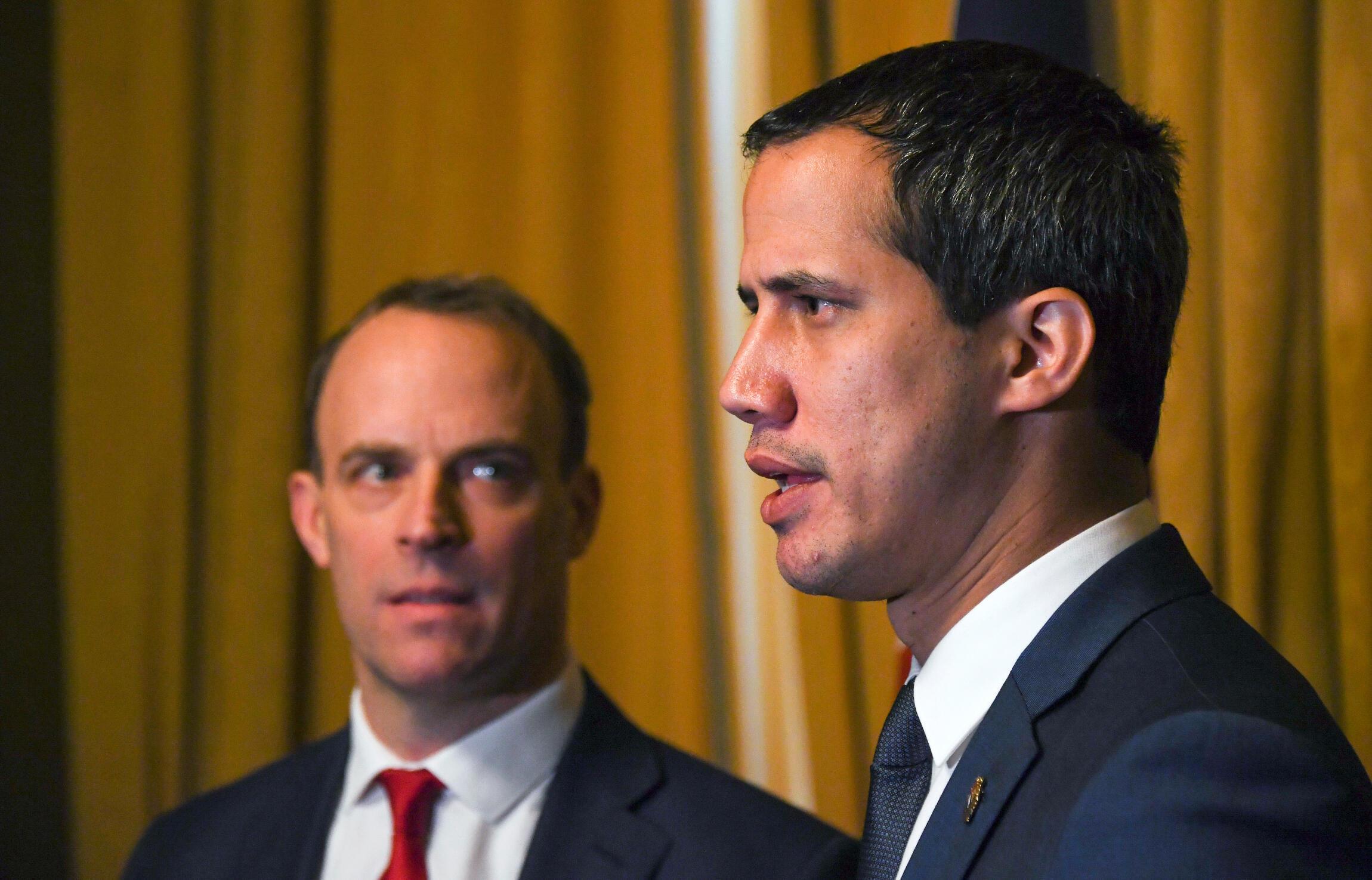 Nhà lãnh đạo đối lập Venezuela Juan Guaido tại bộ Ngoại Giao Anh, Luân Đôn, ngày 21/01/2020.