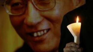 港人纪念2010年诺贝尔和平奖得主刘晓波