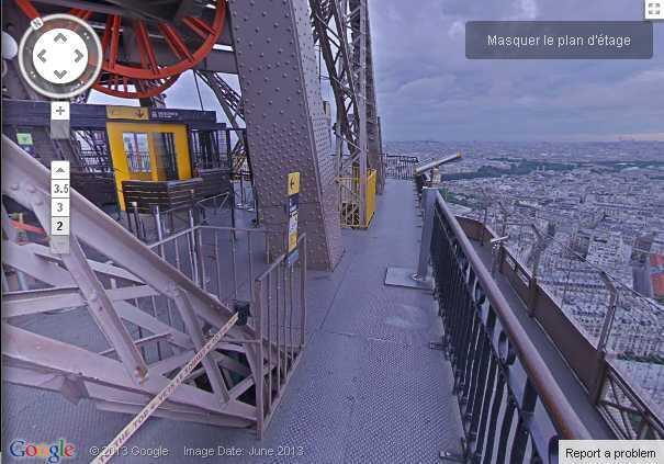 Imagen de la Torre Eiffel tomada por Street View.