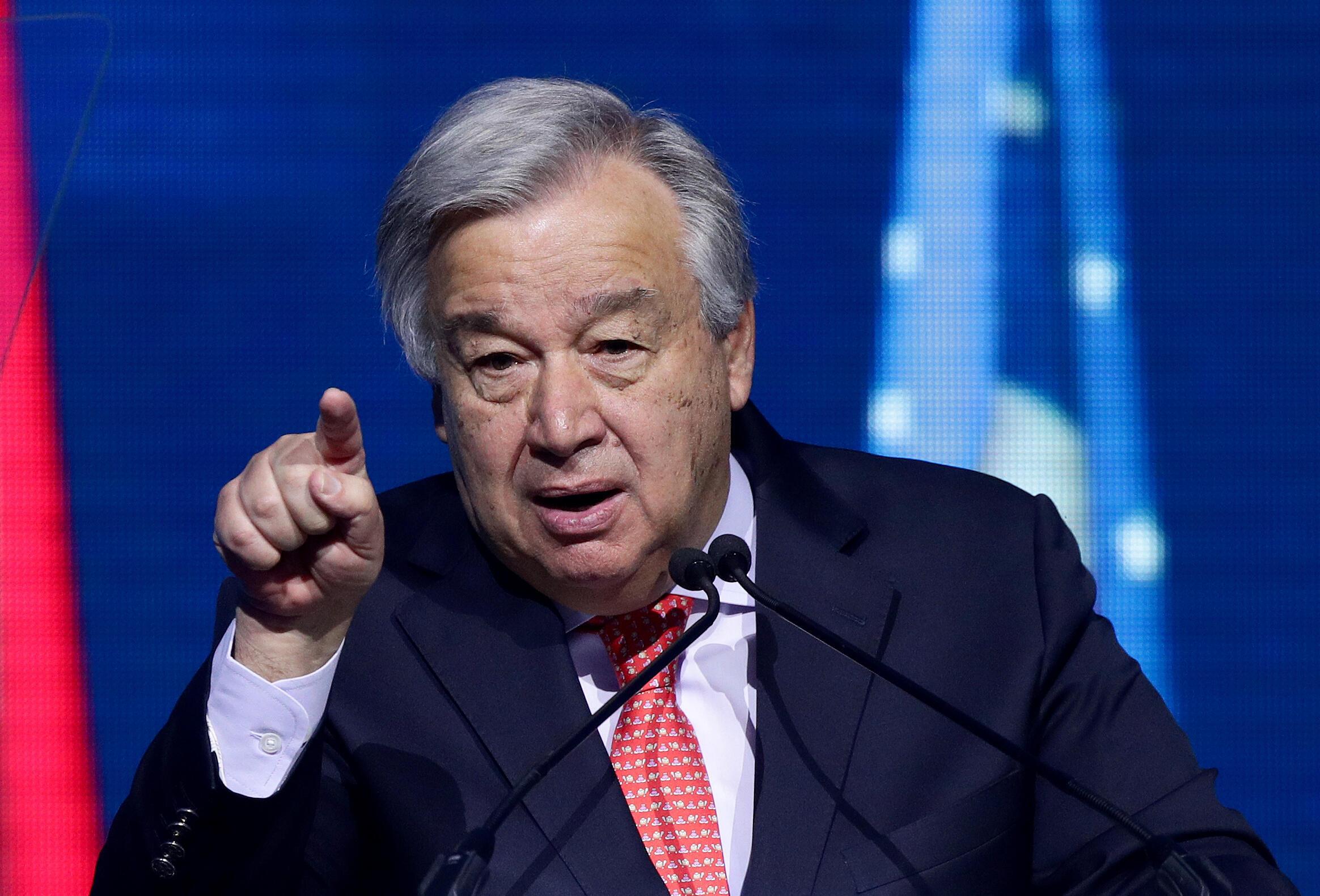 Antonio Guterres, le secrétaire général de l'ONU, à Vienne le 28 mai 2019.
