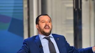 O ministro do Interior da Itália, Matteo Salvini.