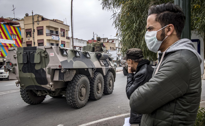 شهر رباط مراکش، تماماً تحت نظارت ارتش قرار گرفته است