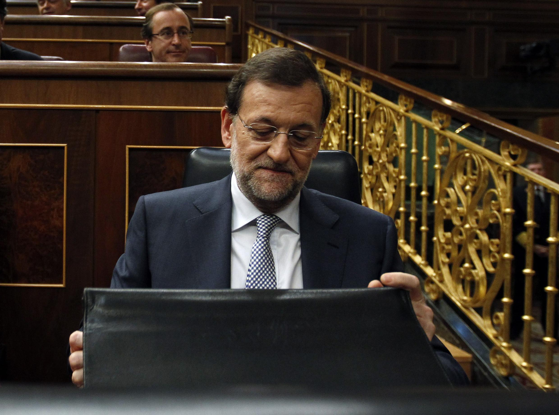 Mariano Rajoy ante el Parlamento español, este miércoles 11 de julio de 2012.
