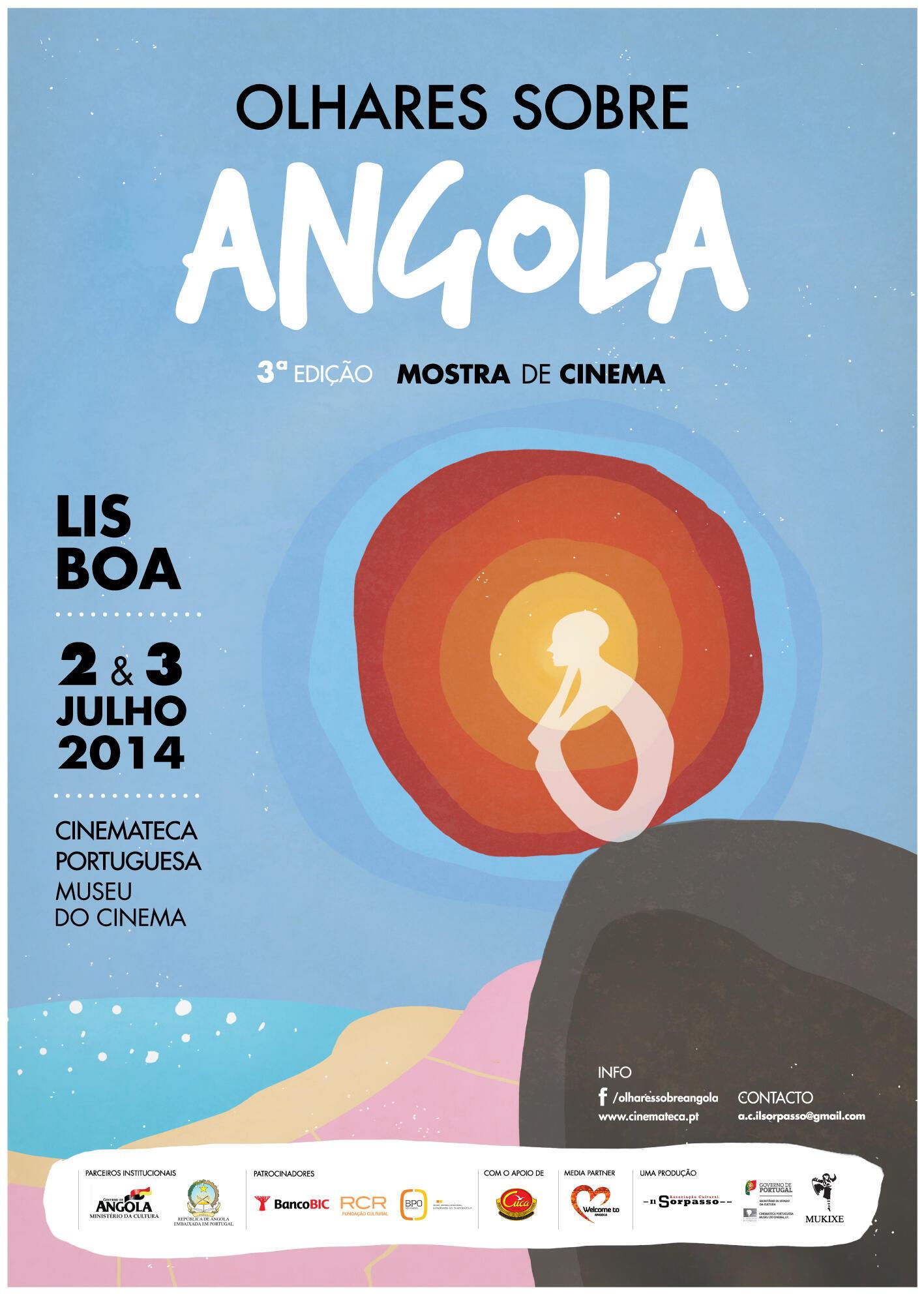 """Cartaz da mostra de cinema """"Olhares sobre Angola"""""""