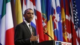 Barack Obama à Chicago, le 21 mai 2012.