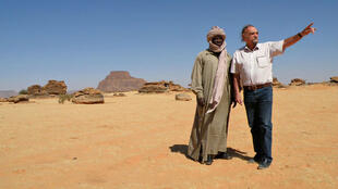 Maurice Freund dans l'Ennedi au nord du Tchad en 2012.