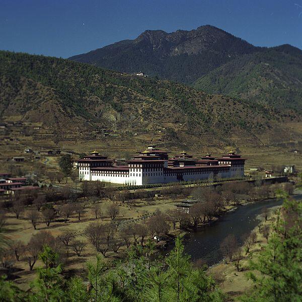 Tashichho Dzong, Buddhist monastery and seat of the Druk Desi, the head of Bhutan's civil government