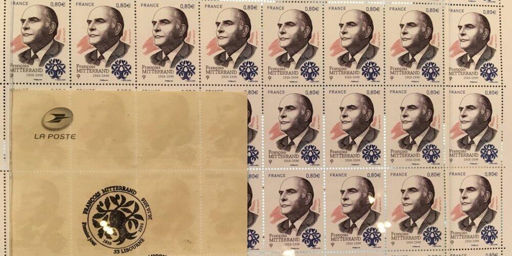 Памятная марка. Франсуа Миттеран.
