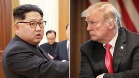 Kiongozi wa Korea Kaskazini Kim Jong-Un na rais wa Marekani Donald Trump.