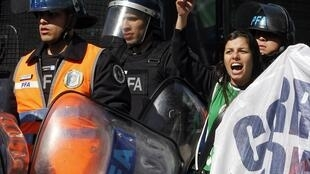 Paralisação protesta contra o governo da presidente argentina Cristina Kirchner.